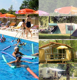 Piscine chalet cottage camping tente mobil home